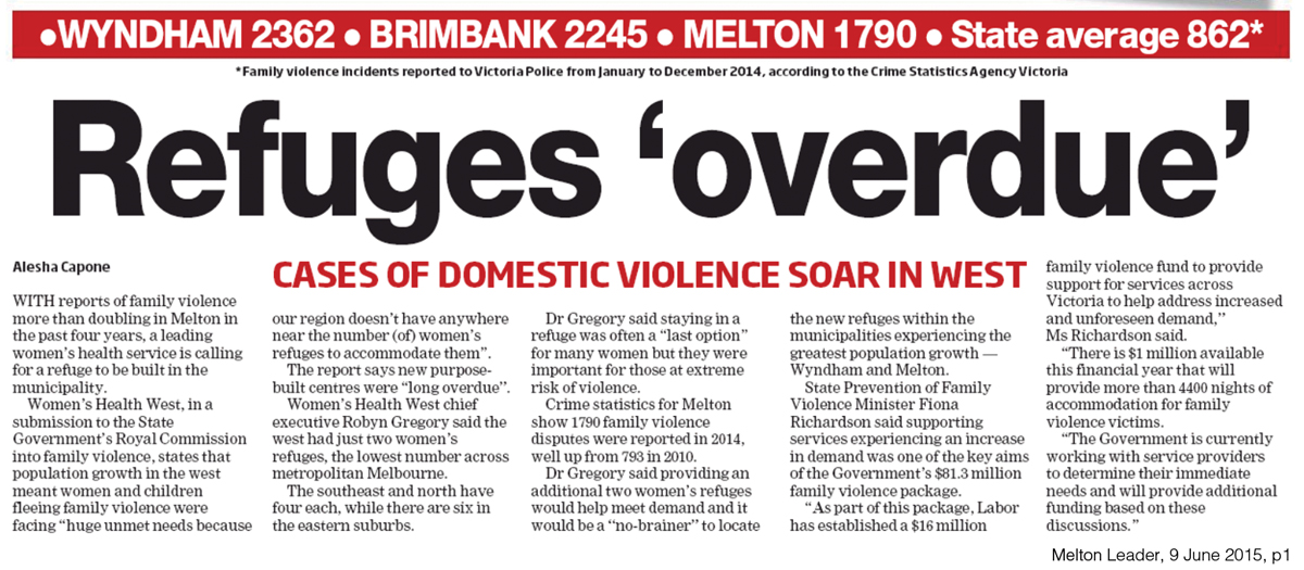Refuges 'overdue': Cases of domestic violence soar in west
