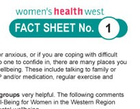 Women and Wellbeing Fact Sheets: