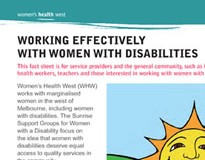 Working effectively with women with a range of disabilities