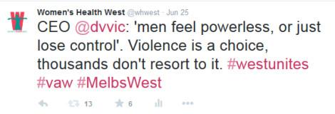 Tweeting quoting Fiona McCormack at Westunites