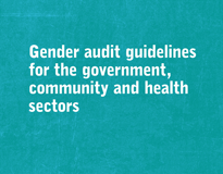 Gender audit guidelines for the government, community and health sectors