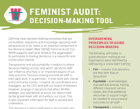 Feminist audit: decision-making tool