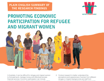 Promoting economic participation for refugee and migrant women: plain English summary