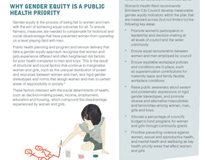 Gendered analysis fact sheets