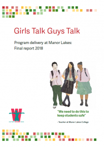 Girls Talk Guys Talk program delivery report