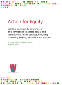 Community attitudes to sexual health services: survey report