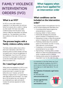 Intervention Order Fact Sheet